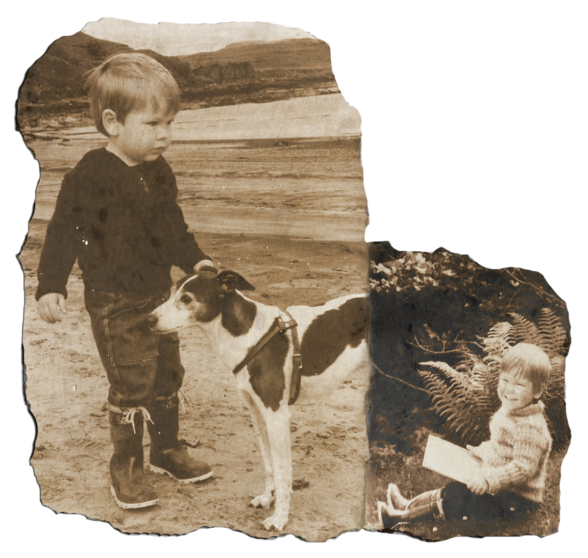 Two photos of Louis Barabbas as a child
