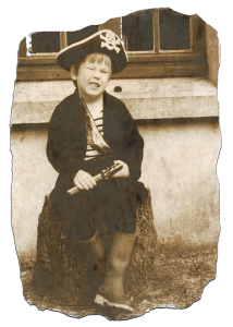 Louis Barabbas as a child