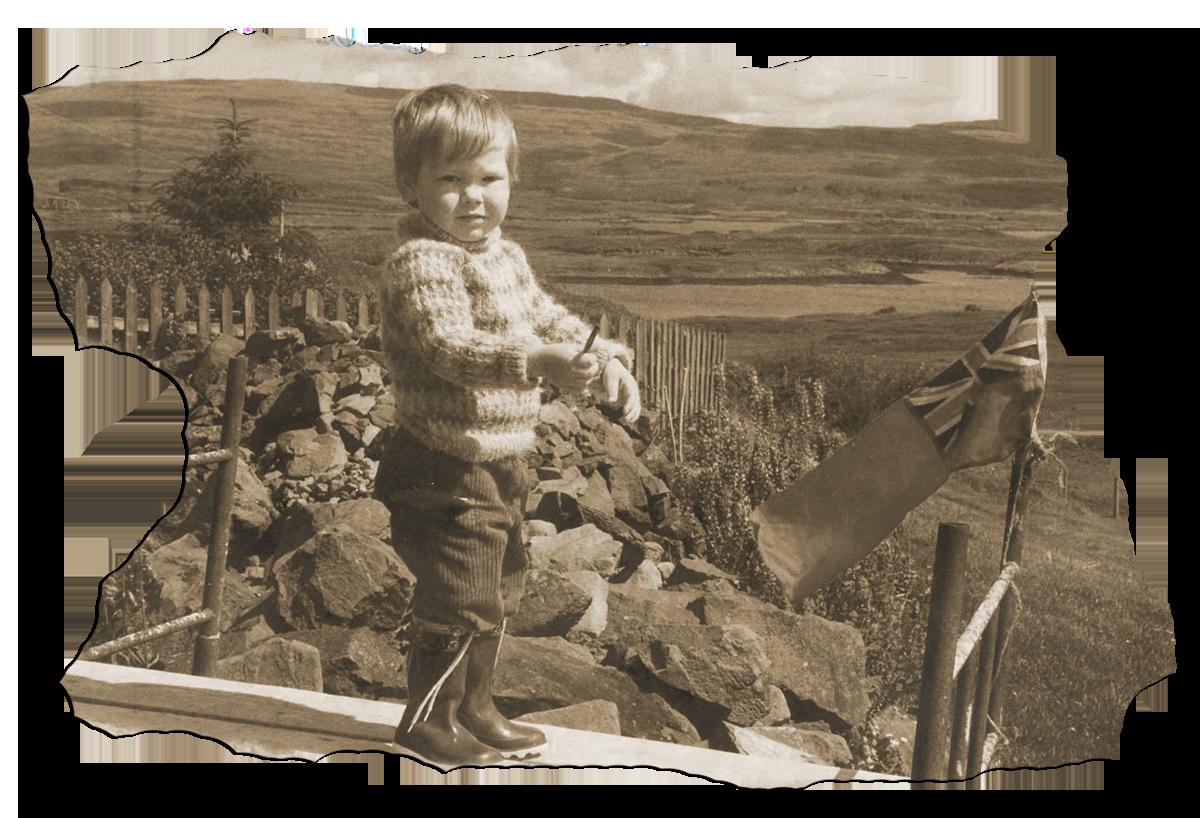 Louis Barabbas as a child