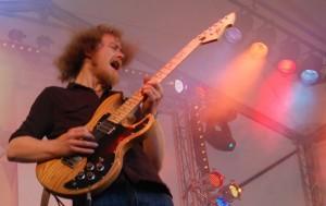 Matthew Cleghorn performing on stage
