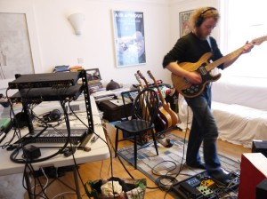 Matthew Cleghorn in his auxiliary studio