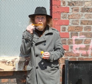 """Matthew Cleghorn on the set of the """"I Ain't Done"""" video"""